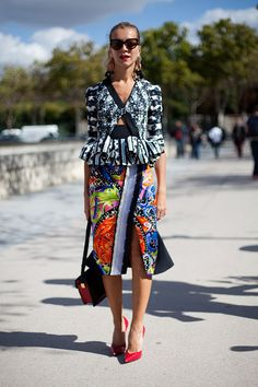 Hedvig is Fall Ready - Paris Fashion Week Street Style Spring 2013 - Harper's BAZAAR
