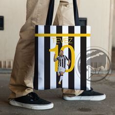 Carlos Tevez 10 Juventus Tote Bag 15x15 inches large, sturdy grocery bag, school bag, Serie A, Juve and Tevez bag by Graphics17 on Etsy