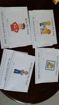 """This packet includes 4 Father's Day emergent readers for kindergarten. The """"All About My Dad"""" is a fill-in-the-blank emergent reader. Each emergent reader is in color and black and white."""