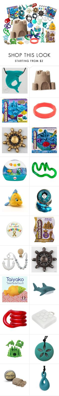 """""""Stim toy sets: The Little Mermaid"""" by thisrandomusername ❤ liked on Polyvore featuring Fisher Price and Disney"""