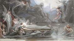 Maxmilián Pirner (1854-1924) - Funeral of Fairies, 1888