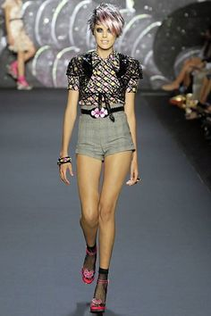 Anna Sui Spring 2008 Ready-to-Wear Fashion Show - Agyness Deyn