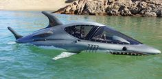 Seabreacher shark submarine can reach speeds up to 25 mph under water and 50 mph riding on the surface, along with snorkel mounted video camera and LCD screens Jet Ski, Yacht Boat, Water Toys, Speed Boats, Water Crafts, Underwater, Diving, Dream Cars, Ocean