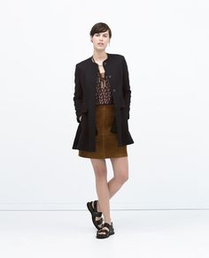ZARA - WOMAN - FLARED BELTED COAT