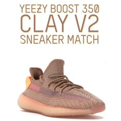 53650a379 Yeezy Boost 350 Clay V2 Sneaker Matching Clothing