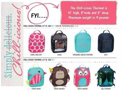 August Customer Special with Thirty-One Gifts ... Chill-icious Thermal for $10 after every $35 spent.   Back to school gear, lunch box, healthy snacks, healthy food