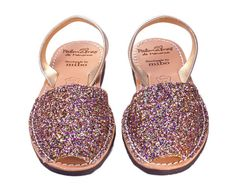 Multi Gold Glitter / Palmaira Sandals