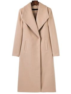 Shop Light Khaki Shawl Collar Longline Coat online. SheIn offers Light Khaki Shawl Collar Longline Coat & more to fit your fashionable needs.