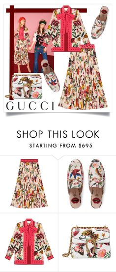 """Untitled #85"" by wardrobe-goals ❤ liked on Polyvore featuring Gucci, gucci, guccigarden and lushflorals"
