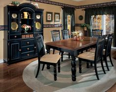 paint dining room set black - leave top as wood and glass