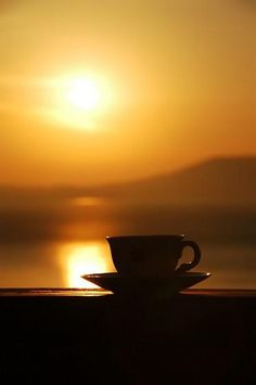 Warm sun and a good cup of coffee!