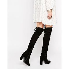 Carvela Pace Over The Knee Boots (11,945 INR) ❤ liked on Polyvore featuring shoes, boots, black, black boots, over-the-knee high-heel boots, thigh high heel boots, thigh high boots and over knee boots