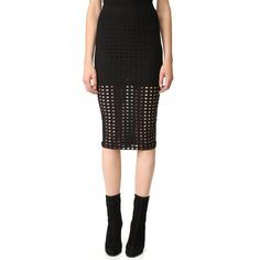 T by Alexander Wang Jacquard Skirt (265 AUD) ❤ liked on Polyvore featuring skirts, black, t by alexander wang skirt, jacquard skirt and t by alexander wang