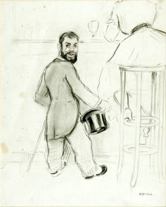 "Ricardo OPISSO (Tarragona, 1880 – Barcelona, 1966). ""Toulouse-Lautrec"". Carboncillo sobre papel. Toulouse, Barcelona, Art Prints For Sale, Best Artist, Original Artwork, Modern Art, Art Deco, Ebay, Paper"