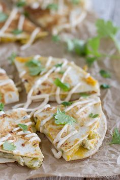 Creamy Quesadilla Recipe made with just a few ingredients and a few different cheese varieties. If you're short on time but have a tex mex craving, this is the recipe for you!