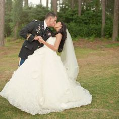 army wedding - too bad he doesn't have his uniform anymore