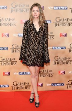 Pin for Later: It's Always Fun to See the Game of Thrones Cast Out of Costume Hannah Murray