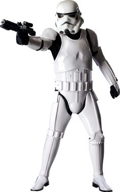 This authentic Stormtrooper costume is a high quality movie replica from Star Wars. Complete your Star Wars group costume with this authentic Stormtrooper costume for adults. Star Wars Stormtrooper Kostüm, Costume Stormtrooper, Star Wars Trajes, Stormtroopers, Adult Costumes, Halloween Costumes, Green Costumes, Men's Costumes, Marvel Dc