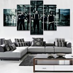 Frame 5 Piece HD Print Large Rammstein Band Poster Cuadros Landscape Canvas Wall Art Home Decor For Living Room Canvas Painting #Affiliate