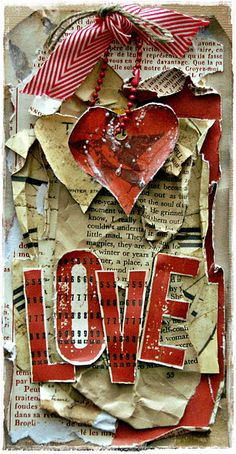 Great idea using book paper, McCalls patterns.  Valentine card front or scrapbook page
