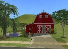 red barn house - Google Search