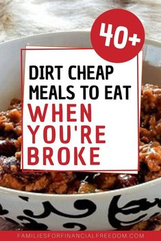 Dirt Cheap Meals for a Tight Budget - Find ideas for two weeks' worth of .,Baking Saving Meals for 2 Saving Meals for family Saving Meals for one Saving Meals groceries budget Saving Meals healthy Saving Meals recipes Cheap Meals For 4, Dirt Cheap Meals, Cheap Meal Plans, Cheap Family Meals, Inexpensive Meals, Cheap Dinners, Meals For Two, Cheap Recipes, Cheap Food