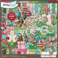 Bright Christmas :: Gotta Pixel Digital Scrapbook Store by Lindsay Jane  $6.00