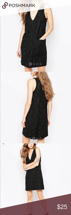 Vila deep V shift dress Size L, new with tags. ASOS Dresses Mini