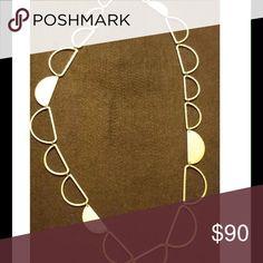 "Silpada hammered Brass 32"" half moon necklace Fashion designer necklace Silpada Jewelry Necklaces"