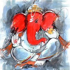 3 Determined Cool Tips: Interior Painting Palette Design Seeds interior painting behr. Lord Ganesha Paintings, Ganesha Art, Shri Ganesh, Krishna, Shiva, Ganesha Tattoo, Durga, Buy Paintings Online, Online Painting