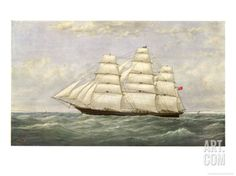 British Sailing Clipper for the China Tea Trade Giclee Print by Josiah Taylor at Art.com
