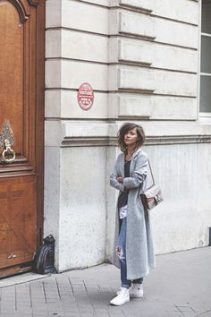 Zoé Alalouch has created a sophisticated street style here, in a...