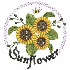 Sunflowers 07 machine embroidery designs