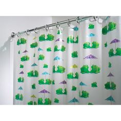 InterDesign Frogs Shower Curtain  another idea for my bathroom