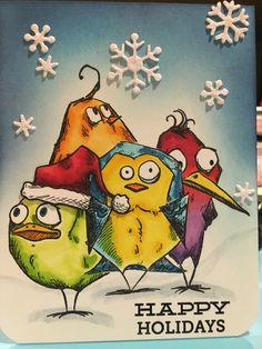 #crazybirds snowy holidays