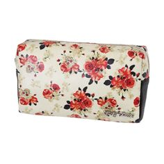 """Get that cute vintage style! Check out this """"Vintage Rose"""" make up bag by Lucky 13!"""