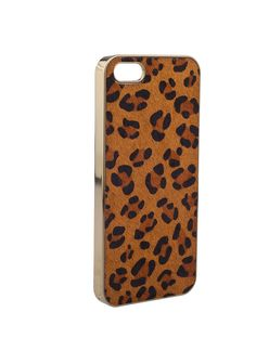 Shop Prima Donna - Call Me Maybe Leopard Print iPhone Case Brown