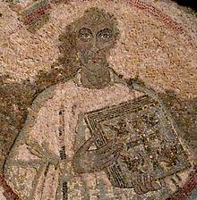 Portrait of Quodvultdeus, 5th-century mosaic, Catacombs of San Gennaro