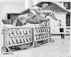 Rodney Jenkins on Sky Ghost in 1967 at the Devon Horse Show