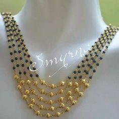 J Gold Jewellery Design, Bead Jewellery, Stone Jewelry, Beaded Jewelry, Jewelery, Mangalsutra Simple, Gold Mangalsutra, Light Weight Gold Jewellery, Gold Jewelry Simple