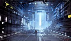 Sci-fi Interior - 2D Digital, Concept art, Illustrations, Sci-fiCoolvibe – Digital Art See more Sci Fi at http://www.warpedspacescifi.com/