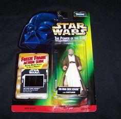 1997 Kenner Star Wars Power of the Force POTF Hologram Ben Obi-Wan Kenobi Green