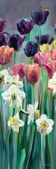 Grape Tulips Panel Ii In Vestidos Art Wall Art - Grape Tulips Panel Ii March Marilyn Hageman Premium Thick Wrap Canvas Wall Art Print Entitled Grape Tulips Panel Ii None Saved To Vestidos K Similar Ideas More Information More Info Canvas Wall Art, Canvas Prints, Art Prints, Big Canvas, Tulip Painting, Tulip Drawing, Grape Painting, Spring Painting, Art Carte