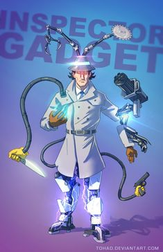 Inspector Gadget | 11 Terrifyingly Violent Illustrations Of Classic Childhood Characters