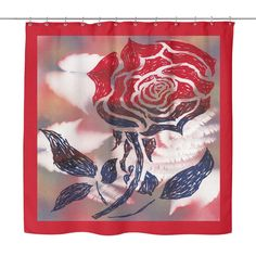 #6 American Beauty Rose Shower Curtain