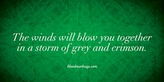 """The winds will blow you together in a storm of grey and crimson. """"Bloodrealms"""" by Aurora Whittet. Paranormal Romance. Young Adult."""