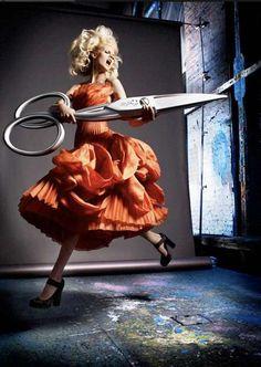 Fashion Photography Pose Scissors