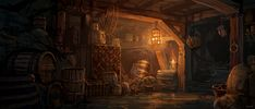 Matt Gaser» Projects -   Tavern Scene (?) reference