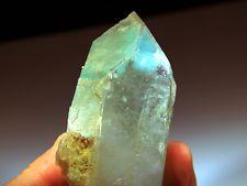 """4.5"""" Superb Blue AJOITE in DOUBLE Terminated Quartz, S Africa!QA502"""