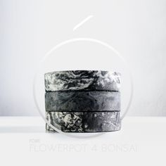 Flowerpot for bonsai - architectural concrete.   162 mm x 37 mm